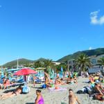 Ischia - plaża przy porcie Casamicciola